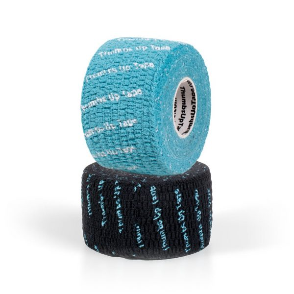Thumbs Up Tape Teal and Black Roll